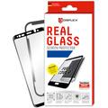 Displex Displex, Real Glass 3D 0,33mm + Rahmen, Apple iPhone Xr, Displayschutzglasfolie, schwarz