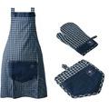 doppler Grillhandschuh-SET aus Handschuh,Schürze,Topflappen, Jeanslook
