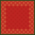 Duni Dunicel-Mitteldecken Xmas Deco Red 84 x 84 cm 20 Stück