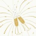 Duni Dunilin-Servietten Festive Cheers White 40 x 40 cm 1/4 Falz 50 Stück