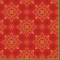Duni Dunilin-Servietten Xmas Deco Red 48 x 48 cm 1/4 Falz 40 Stück