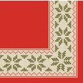 Duni Dunilin Servietten Urban Yule Red 48x48 cm 1/4 Falz 40 Stück