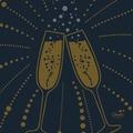 Duni Dunisoft-Servietten Festive Cheers Black 20 x 20 cm 180 Stück