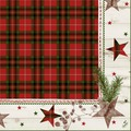 Duni Klassik-Servietten Naturally Christmas 40x40 cm 4lagig, geprägt, 1/4 Falz 50 Stück
