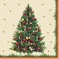 Duni Servietten 3-lagig Motiv Traditional Tree 24 x 24 cm 20 Stück