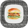 Duni Teller Pappe Best Burger 22 x 22 cm 10 St.