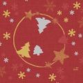 Duni Zelltuch-Servietten Season's Joy 33x33 cm 3lagig, 1/4 Falz 50 Stück