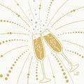 Duni Zelltuchservietten Festive Cheers White 33 x 33 cm 3-lagig 1/4 Falz 50 Stück
