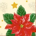 Duni Zelltuchservietten Flores 24 x 24 cm 3-lagig 1/4 Falz 50 Stück