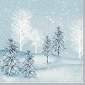 Duni Zelltuchservietten Winter Mornings 33 x 33 cm 3-lagig 1/4 Falz 50 Stück