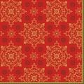 Duni Zelltuchservietten Xmas Deco Red 33 x 33 cm 3-lagig 1/4 Falz 50 Stück