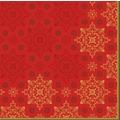 Duni Zelltuchservietten Xmas Deco Red 40 x 40 cm 3-lagig 1/4 Falz 250 Stück