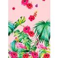 Duni Dunisilk® Tischdecken Aloha Floral 138 x 220 cm 1 Stück