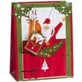 Duni Geschenktüte klein, Santa's Reindeer 17,8 x 22,9 x 9,8 cm