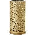 Duni Kerzenhalter Bliss gold, aus Metall für Maxi-Teelichte oder LED 140x75mm 4er-Set