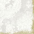 Duni Klassik-Servietten 4 lagig 1/4 Falz 40 x 40 cm Royal White, 50 Stück