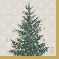 Duni Servietten Tissue 24 x 24 cm Trees in Gold 20er Pack