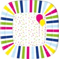 Duni Teller laminiert, eckig Pappe 22 x 22 cm Balloons & Confetti, 10 Stück