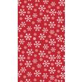 Duni Tischdecken Dunicel® 138 x 220 cm Red Snowflake 1er Pack
