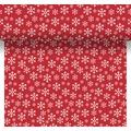 Duni Tischläufer 3 in 1 Red Snowflakes 0,4 x 4,8 m 1 Stück