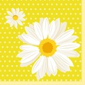Duni Tissue Servietten 33 x 33 cm My Daisy Yellow, 20 Stück