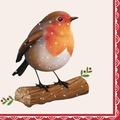 Duni Tissue Servietten Happy Robin 33 x 33 cm 20 Stück