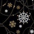 Duni Tissue Servietten Snow Necklace Black 24 x 24 cm 20 Stück