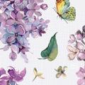 Duni Tissue Servietten Sweet Butterfly Lilac 24 x 24 cm 20 Stück