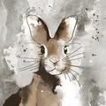 Duni Tissue Servietten Watercolour bunny 33 x 33 cm 20 Stück