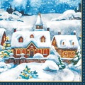 Duni Tissue Servietten Winter Village 24 x 24 cm 20 Stück