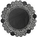 Duni Torten-Spitzen rund schwarz, ø 12 cm, 250 Stück