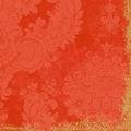 Duni Zelltuch-Servietten 3 lagig 1/4 Falz 40 x 40 cm Royal Mandarin, 250 Stück