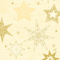 Duni Zelltuchservietten 33 x 33 cm Star Stories Cream