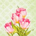 Duni Zelltuchservietten Love Tulips 33 x 33 cm 50 Stück