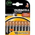 Duracell Batterie Alkaline - Micro - AAA - LR03 - 1.5V Plus Power - (16-Pack)