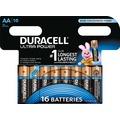 Duracell Batterie Alkaline - Mignon - AA - LR06 - 1.5V Ultra Power - Powercheck - (16-Pack)