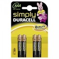 Duracell Battery Alkaline AAA 4er Simply