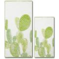 Dyckhoff Frottierserie Green Paradise Kaktus grün Handtuch 50 x 100 cm, 6 Stück