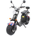 eFlux Harley Two Elektro Scooter UK Flag mit Straßenzulassung, 1500 Watt 60 Volt