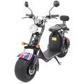 eFlux Harley Two Elektro Scooter UK Flag mit Straßenzulassung, 1500 Watt 60 Volt