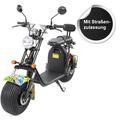eFlux Harley Two Elektro Scooter gelb mit Straßenzulassung, 1500 Watt 60 Volt