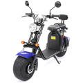 eFlux Harley Two Elektro Scooter blau mit Straßenzulassung, 1500 Watt 60 Volt