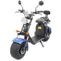 eFlux Harley Two Elektro Scooter mattblau mit Straßenzulassung, 1500 Watt 60 Volt