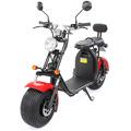 eFlux Harley Two Elektro Scooter rot mit Straßenzulassung, 1500 Watt 60 Volt