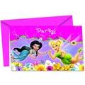 "PROCOS Einladungskarte + Briefumschlag, Motiv ""Fairies Springtime"", je 6 Stück"
