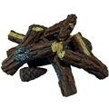 Elementi Brennholz aus Keramik Kiefernholz Optik