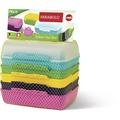 emsa Brotdose VARIABOLO Clipbox, Farb-Set mit 6 Halb-Schalen / 3 Clipboxen 16 x 11 x 7