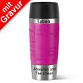 emsa Thermobecher MIT GRAVUR - OBEN & UNTEN - (z.B. Namen) TRAVEL MUG Manschette Himbeere pink 360ml