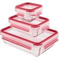 emsa Frischhaltedose CLIP & CLOSE Glas 3er Set, 0,20 / 0,50 / 1,30 Liter