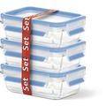 emsa Frischhaltedose CLIP & CLOSE Glas 3er Set, 3x 0,50 Liter